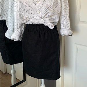 J.Crew Black mini skirt